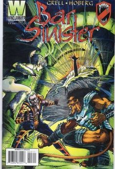 Bar Sinister Comic Book August 1995 Vol 1 No 3 Windjammer Mike Grell Comic Books For Sale, Vintage Comic Books, Vintage Comics, Dragon Ball Z, Comic Covers, Marvel, Bar, Magazines, Artists