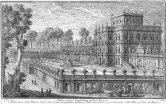 An etching of the Villa Doria Pamphili, circa 1740, by Giuseppe Vasi.