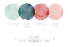 cuban | fresh hues brushstrokes