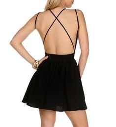 Black X-Back Skater Dress. LOVE!!!!