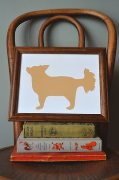 How to create pet silhouette art - once again of our puppy Hazel...