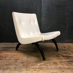 Early 1950s Milo Baughman Scoop Lounge Chair Thayer Coggin Mid-Century Vintage Modern