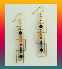 Harpstone - Frank Lloyd Wright Skinny Rectangles #wirejewelry