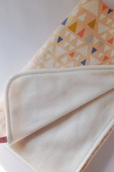 $33.76 - Modern baby blanket geometric triangle print by ShopIndigoRocket