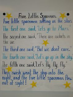 poem for space unit Space Theme Preschool, Space Activities, Preschool Songs, Preschool Lessons, Preschool Classroom, Kids Songs, In Kindergarten, Classroom Ideas, Silly Songs