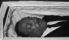 Martin Luther King, Jr.'s Body in Coffin During Funeral