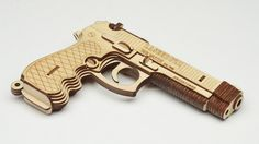 Laser-cut plywood 3D puzzles that're easy to assemble and cover all manner of awesome. #puzzles #awesome