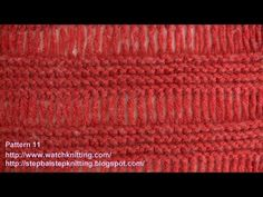 http://www.watchknitting.com/2011/04/simple-patterns-pattern-11/ http://watchknitting.blogspot.ca/ http://stepbaistepknitting.blogspot.ca/ Like me on Facebook : https://www.facebook.com/pages/Watch-Knitting/205364456174211 watch the slowest and the best quality videos to learn knitting in all levels  Find videos related to basic stitches , Incre...