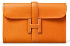 hermès jige clutch in classic orange