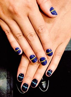 Lined mani