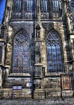 Glass-stained windows on saint stephen's church