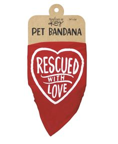 'Rescued with Love' Pet Bandana by PBK - Choice of Size