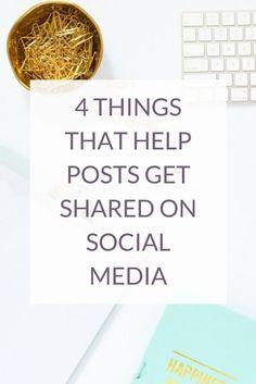 4 Things That Help Posts Get Shared On Social Media via @kairenvarker