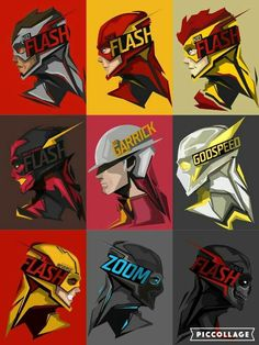 looks like it has the flash, the reverse flash, jay Garrick, zoom, Godspeed and some I don't recognize check this out on my page like comment and share back from 10 minutes in the future it has kid flash too Kid Flash, Flash Art, Flash Show, Arte Dc Comics, Bd Comics, Flash Comics, Zoom Dc Comics, Comic Kunst, Comic Art