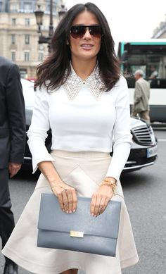 Salma Hayek, being married to the head of luxury conglomerate Kering means that she's required by marital obligation to carry this Stella Mc...