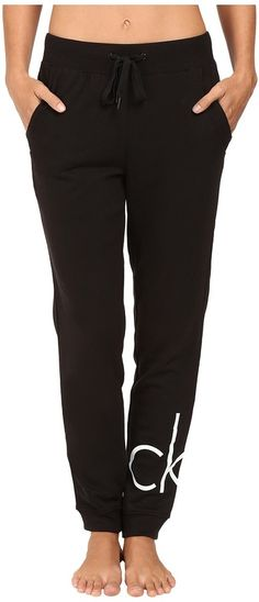 Calvin Klein Underwear Lounge Sweatpants - Lounge in comfort when you adorn these comfortable sweatpants. ; French terry knit pant boasts a relaxed fit with covered elastic waistband and drawstring adjustment.