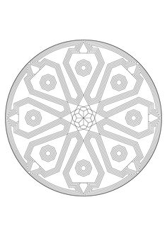 Free Printable Mandalas to Colour - In The Playroom