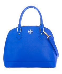 Another great find on #zulily! Dazzling Blue Melodie Leather Tote by Segolene En Cuir #zulilyfinds