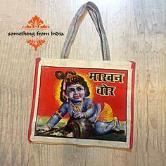 Market tote shoulder bag | printed India pop-art kitsch Market bag