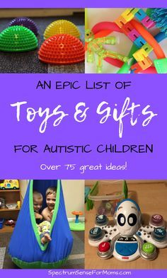 Awesome gift ideas for children on the autism spectrum! There are lots of fun toys that can also be used as therapy tools for autistic kids. My boys love most of these toys & gifts for autism! #autismspectrumdisorders #giftideas #autismgift #autismgifts #giftsforkids #autismtoys #toysforautism
