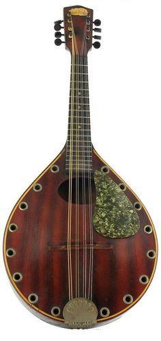 1930's blue comet arch top resonator mandolin