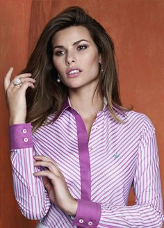 Business Outfits, Office Outfits, Work Shirts, Shirts For Girls, How To Wear Shirt, Pretty Shirts, Purple Fashion, Work Tops, Professional Outfits
