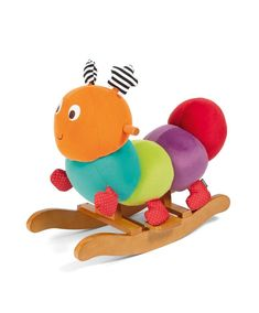 Rocking Horse Ride On Curious Caterpillar Rocking Animal Wooden Soft Baby Toy