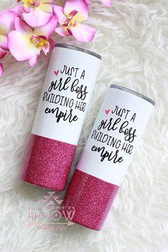 Diy Tumblers, Glitter Tumblers, Glitter Cups, Personalized Tumblers, Custom Tumblers, Custom Mugs, Pink Glitter, Girls Tumbler, Mom Tumbler