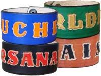 Leather cuffs personalized 1.5 inch wide