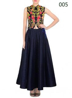 Navy Blue Designer Lehenga Choli adorned with beautiful dori embroidery work #NavyBlue #Lehenga