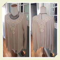 HOLDBeautiful rayon gauzy embroidered top Soft glory top by Swell features intricate embroidery detailing front and back,long bell sleeves, cry boho chic , brand new without tag Swell Tops