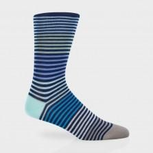 Paul Smith Socks - Navy Pastel Stripe Socks