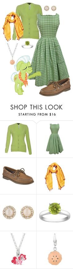 """Granny Smith"" by lunar-exorcism ❤ liked on Polyvore featuring Ralph Lauren, Betty Barclay, My Little Pony, Sperry, La Fiorentina, Kate Spade, Apples of Gold, MLP, MyLittlePony and GrannySmith"