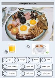 English worksheet: Full English Breakfast