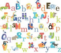 Animal Alphabet Baby Nursery Peel andStick Wall Art Sticker Decals Pre-cut, Peel & stick Instantly brighten up any space Remove in seconds without damaging your paint Repositionable;