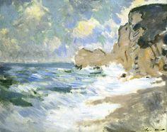 Claude Monet, Effect of Waves at Etretat,1883