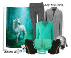 nr 383 / Love to Horses by kornitka on Polyvore featuring polyvore fashion style FAUSTO PUGLISI Uniqlo Phase Eight Charlotte Olympia Merona Burberry BeckSöndergaard Casetify clothing