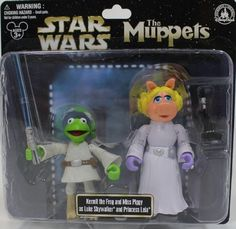 "Disney Star Wars Muppets ""Kermit the Frog & Miss Piggy"" as ""Luke Skywalker & Princess Leia"" PVC Figures - Disney Parks Exclusive & Limited Availability Disney http://www.amazon.com/dp/B00726HRW4/ref=cm_sw_r_pi_dp_78yVvb0TAKB9D"