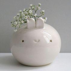 Kawaii Bunny Vase. | kawaii | Pinterest