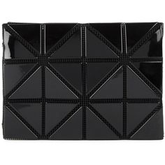 Issey Miyake Black glossed card holder ( 165) ❤ liked on Polyvore featuring  bags ca134a06dde3f