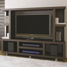 Modern tv wall unit cabinet designs 2016 aravind residence pinterest modern tv wall units - Libreros de madera modernos ...