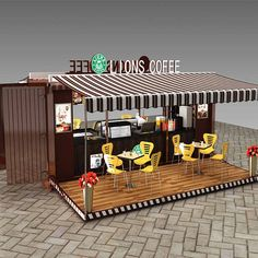 Wholesale Mobile Container restaurant coffee shop interior design/Shipping container mobile restaurant From m.alibaba.com Coffee Shop Interior Design, Pub Design, Coffee Shop Design, Kiosk Design, Booth Design, Container Coffee Shop, Container Cafe, Mobile Restaurant, Restaurant Design