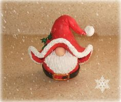 Miniature Christmas Santa Claus Gnome Figurine-Perfect Gift For the Holidays. $18.00, via Etsy.