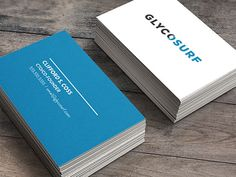 Glycosurf Business Card   Business Cards   The Design Inspiration