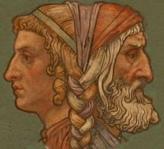 Janus-for whom January was named. (Some say Juno, but I think June claims that honor)