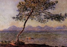 ✨  Claude Monet (1840-1926) - At Cap d'Antibes, 1888, oil on canvas, Height: 65 cm (25.59 in.), Width: 92 cm (36.22 in.)