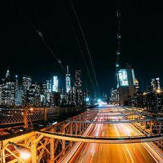 The electric #nightscape of #Manhattan. @michelesperandio captured the energy of the #city that never sleeps with Night Photo Mode on his #GoPro. • • • #NewYork #NightPhotography #BrooklynBridge #GoProTravel #