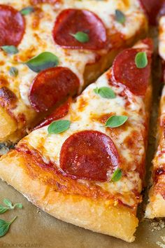 Pepperoni Pizza (Homemade Dough and Pizza Sauce Recipes) - Cooking Classy Snack Mix Recipes, Pizza Recipes, Sauce Recipes, Cooking Recipes, Best Pizza Dough Recipe, Crust Recipe, Gnocchi Recipes, Good Pizza, Pepperoni