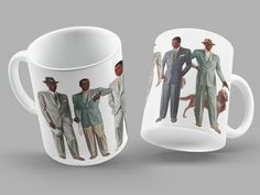 Vintage Black Men Mug  1930s Fashion  1940 Style  Fashion | Etsy