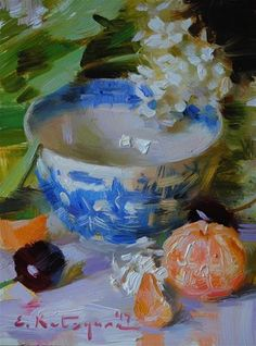 DPW Original Fine Art Auction - Viburnum Blossoms and Fruit - © Elena Katsyura Tea Cup Art, Fruit Painting, Painting Canvas, Still Life Art, Art Studies, Gravure, Watercolor Flowers, Painting Flowers, Fine Art Gallery